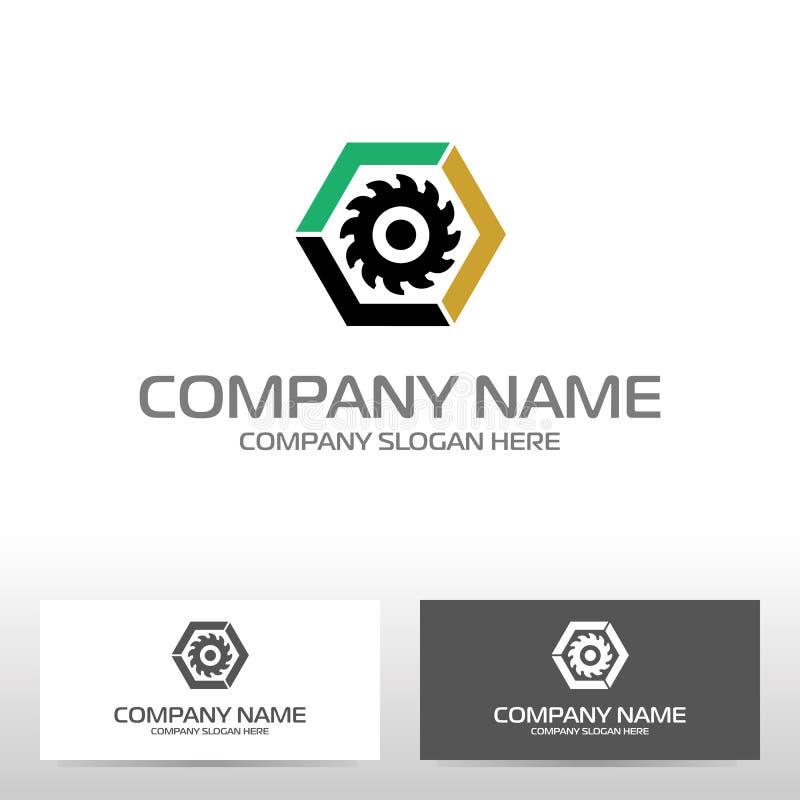 Дизайн логотипа нефтедобывающей промышленности иллюстрация штока