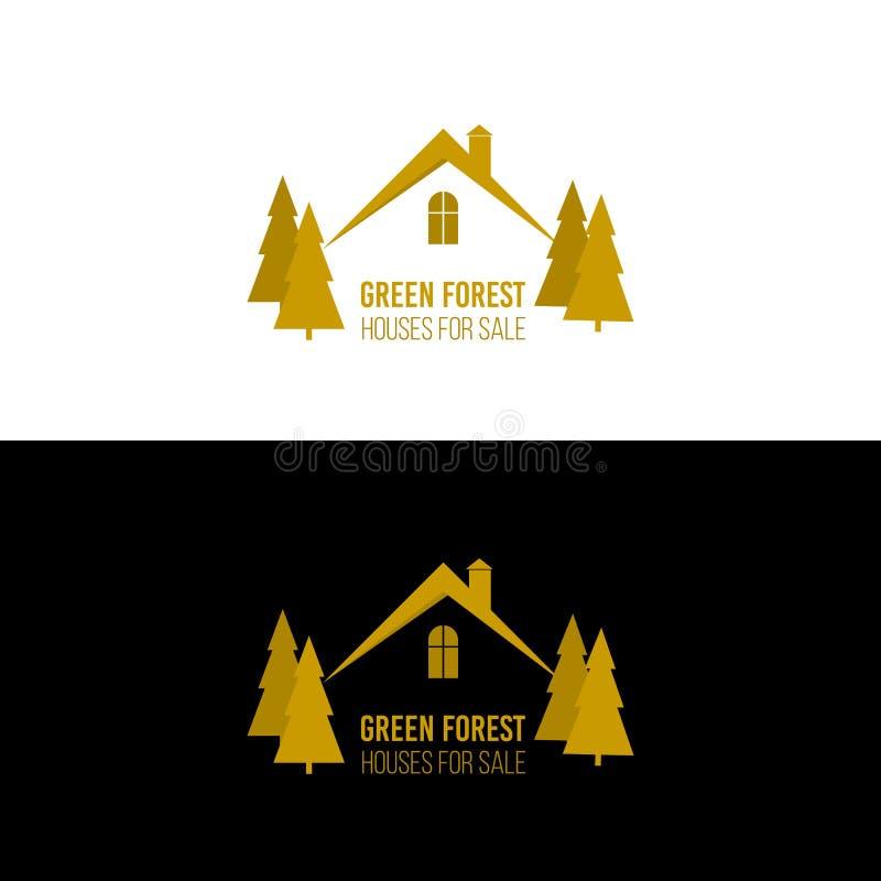 Дизайн логотипа недвижимости Значок концепции дома абстрактный иллюстрация вектора