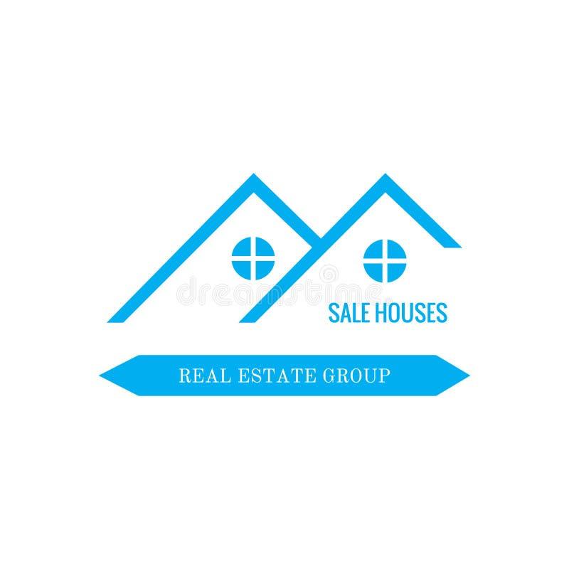 Дизайн логотипа недвижимости иллюстрация вектора