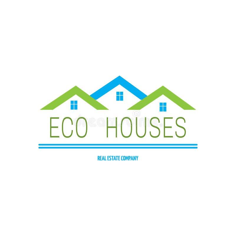Дизайн логотипа недвижимости иллюстрация штока