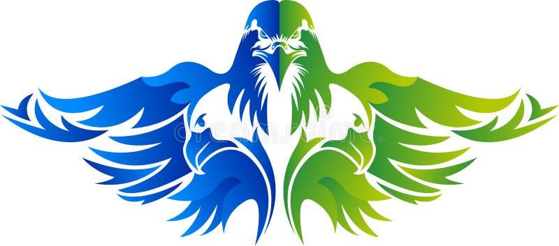 Дизайн логотипа орла иллюстрация вектора