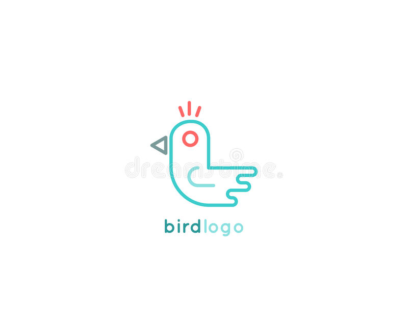 Дизайн логотипа птицы minimalistic бесплатная иллюстрация