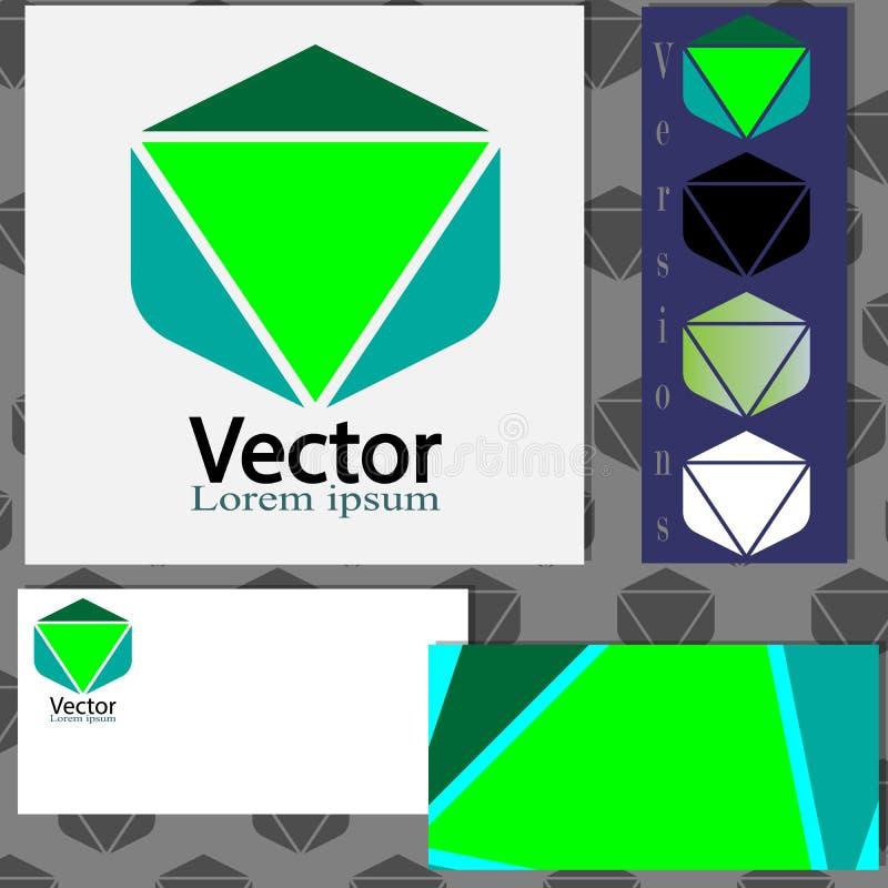Дизайн логотипа с шаблонами визитной карточки иллюстрация вектора