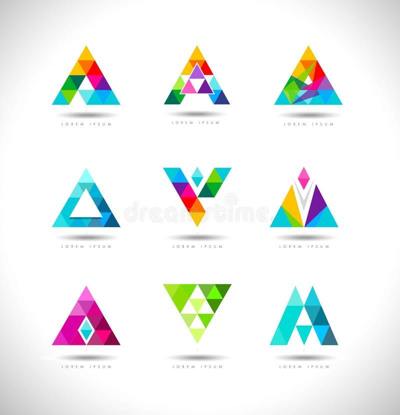 Дизайн логотипа треугольников иллюстрация штока