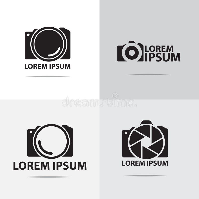 Дизайн логотипа цифровой фотокамера иллюстрация вектора