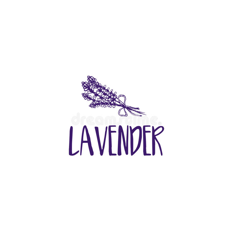 Дизайн логотипа шаблона абстрактной лаванды значка бесплатная иллюстрация