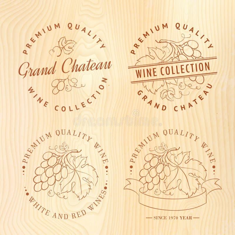 Дизайн логотипа для вина иллюстрация вектора