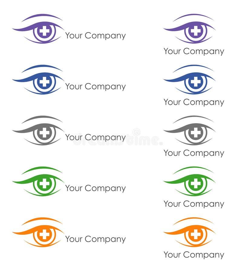 Дизайн логотипа для офтальмолога иллюстрация вектора
