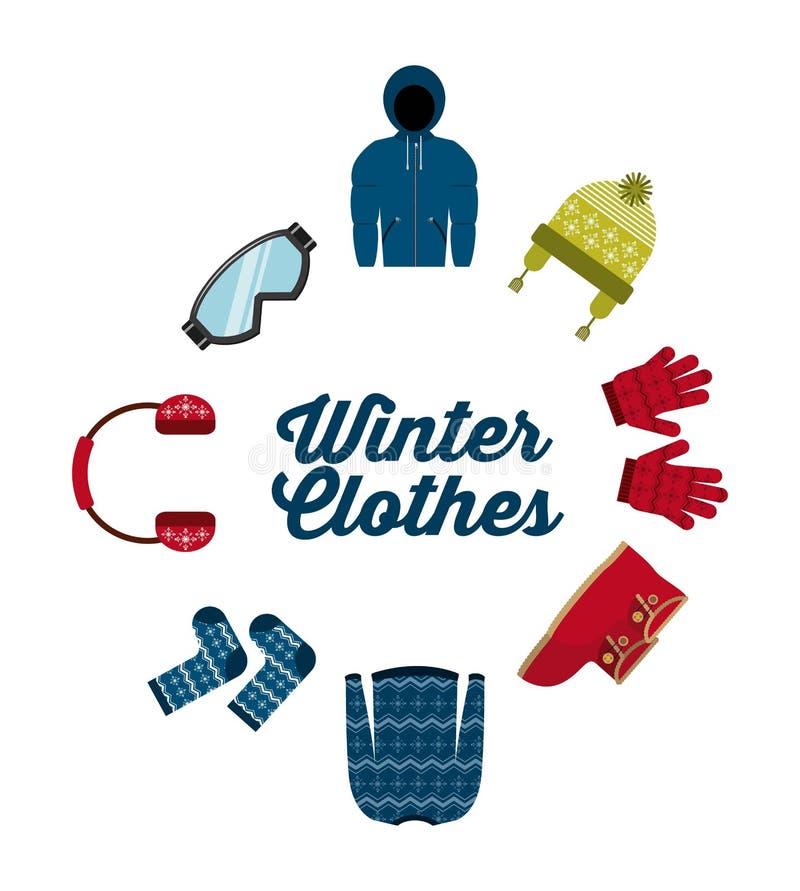 Дизайн одежд зимы иллюстрация вектора