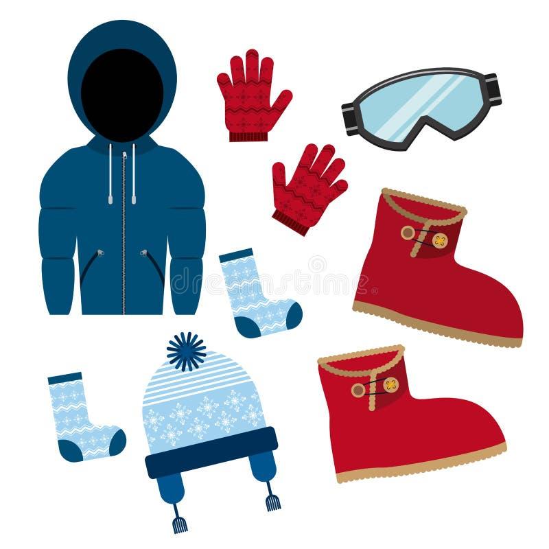 Дизайн одежд зимы иллюстрация штока