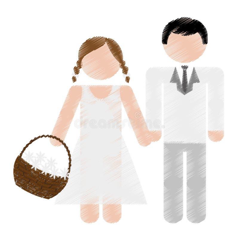 Download Дизайн пар свадьбы иллюстрация вектора. иллюстрации насчитывающей приветствие - 81802166