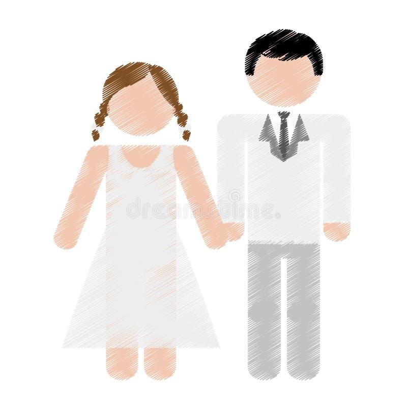 Download Дизайн пар свадьбы иллюстрация вектора. иллюстрации насчитывающей торжество - 81802188