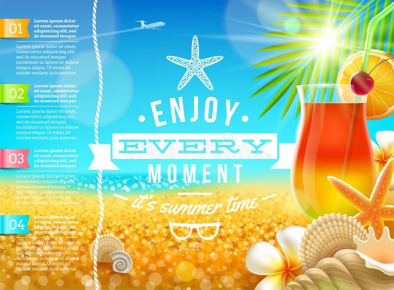 Дизайн перемещения и летних отпусков иллюстрация штока