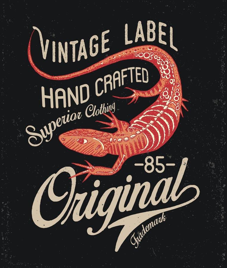 Дизайн печати ящерицы бесплатная иллюстрация