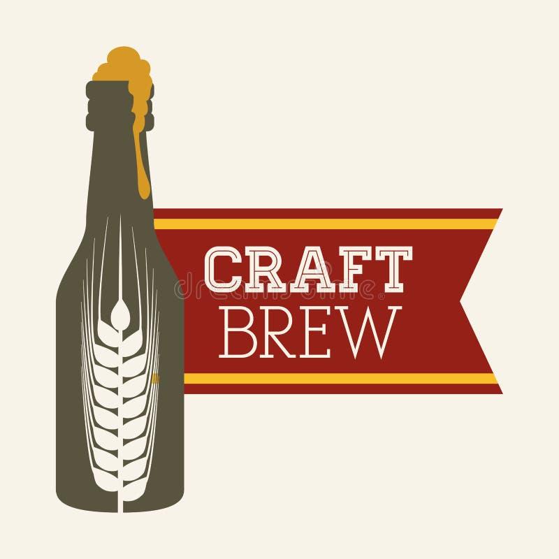 Дизайн пива и ячменя бесплатная иллюстрация