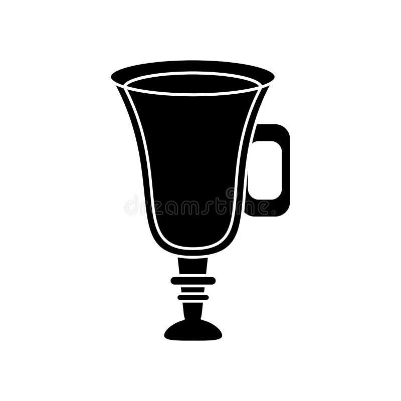 Дизайн питья кофе стеклянный иллюстрация вектора