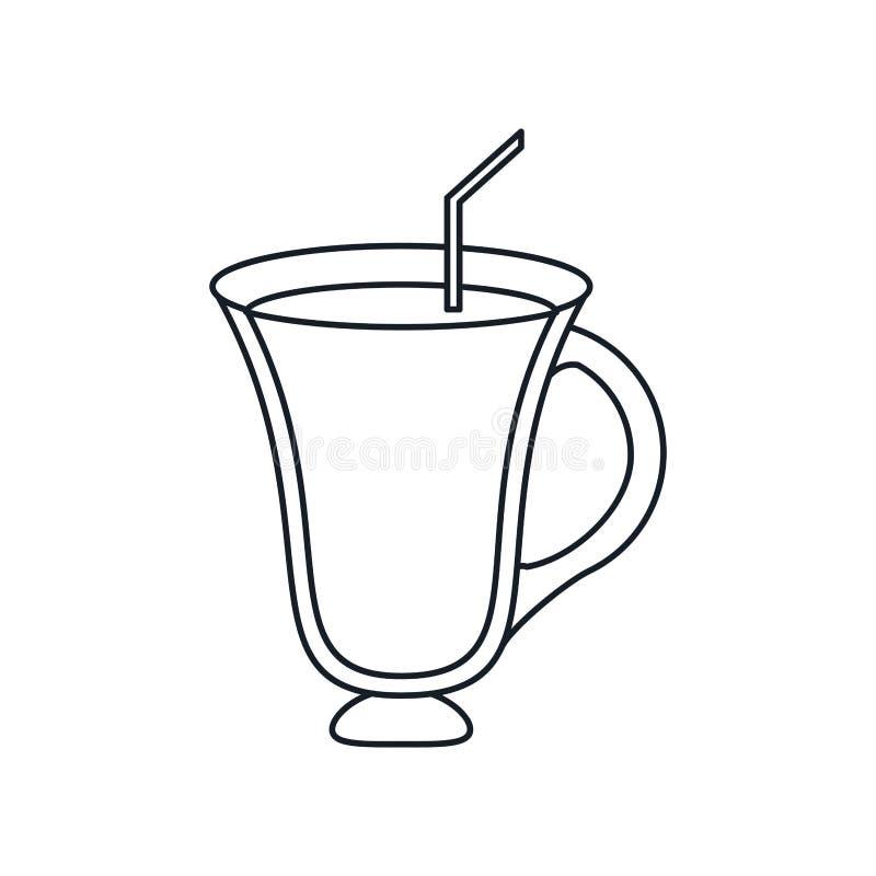 Дизайн питья кофе стеклянный бесплатная иллюстрация
