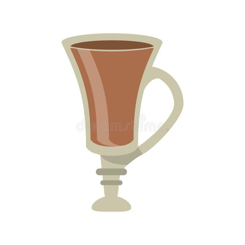 Дизайн питья кофе стеклянный иллюстрация штока