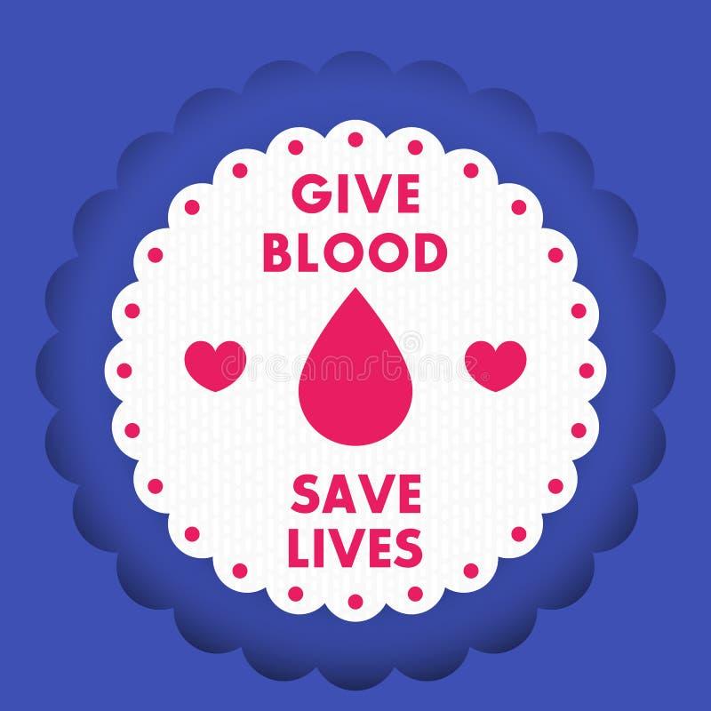 Дизайн плаката донорства крови, значок вектора иллюстрация вектора