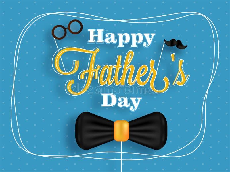 Дизайн плаката или знамени для торжества дня ` s отца с stylis иллюстрация штока