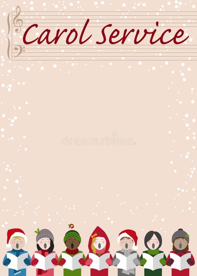 Дизайн плаката обслуживания рождественского гимна рождества иллюстрация штока