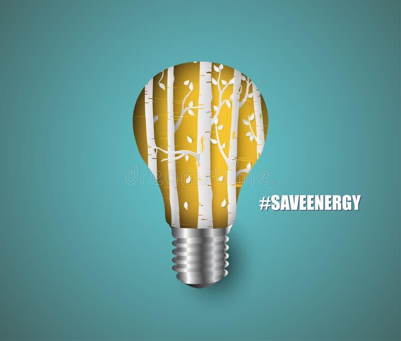 дизайн плаката энергии спасения иллюстрация вектора