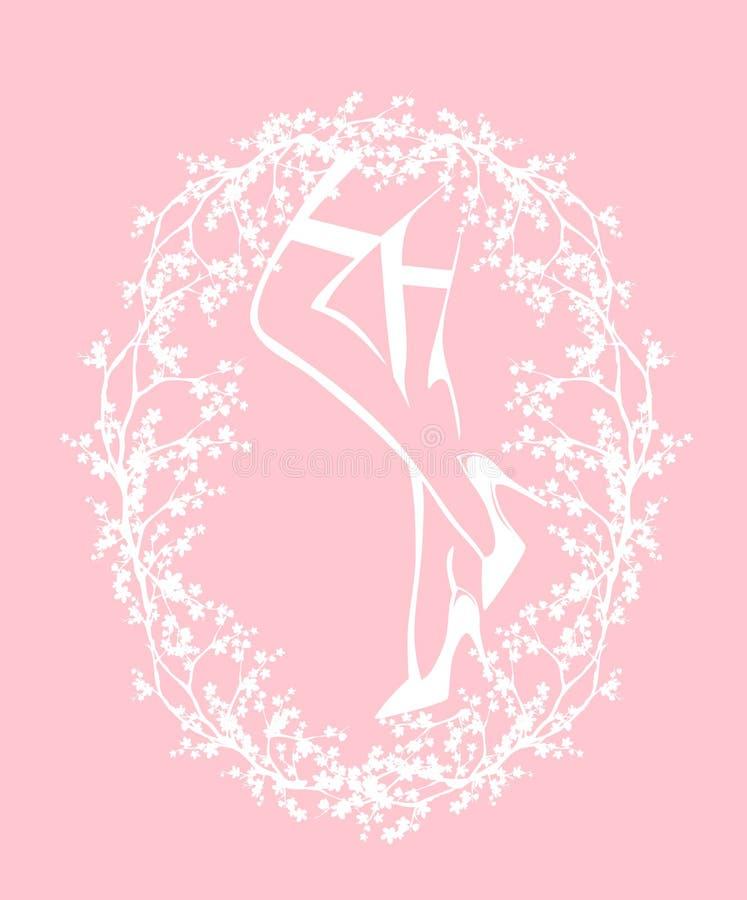 Дизайн плана вектора чулков и пяток женщины нося бесплатная иллюстрация