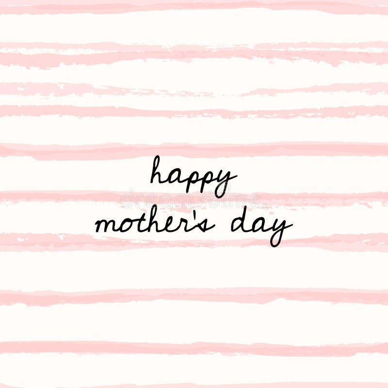Дизайн поздравительной открытки дня ` s матери бесплатная иллюстрация