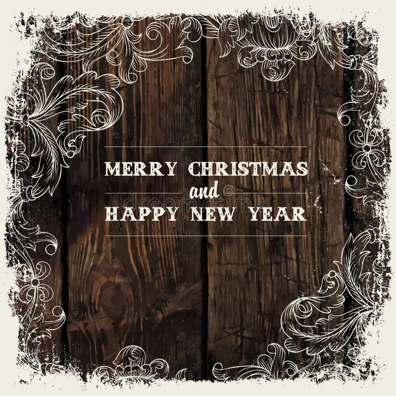 Дизайн поздравительной открытки рождества, вектор бесплатная иллюстрация