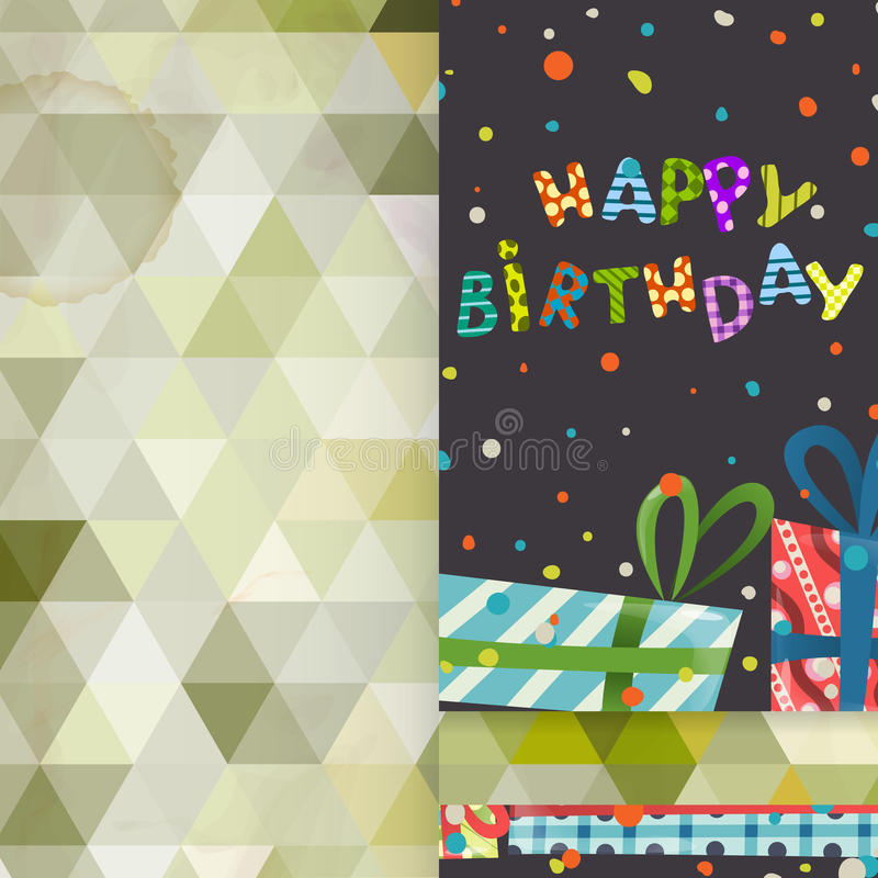 Дизайн поздравительной открытки, шаблон иллюстрация вектора