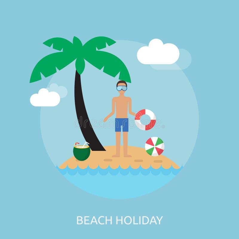 Дизайн праздника пляжа схематический иллюстрация штока