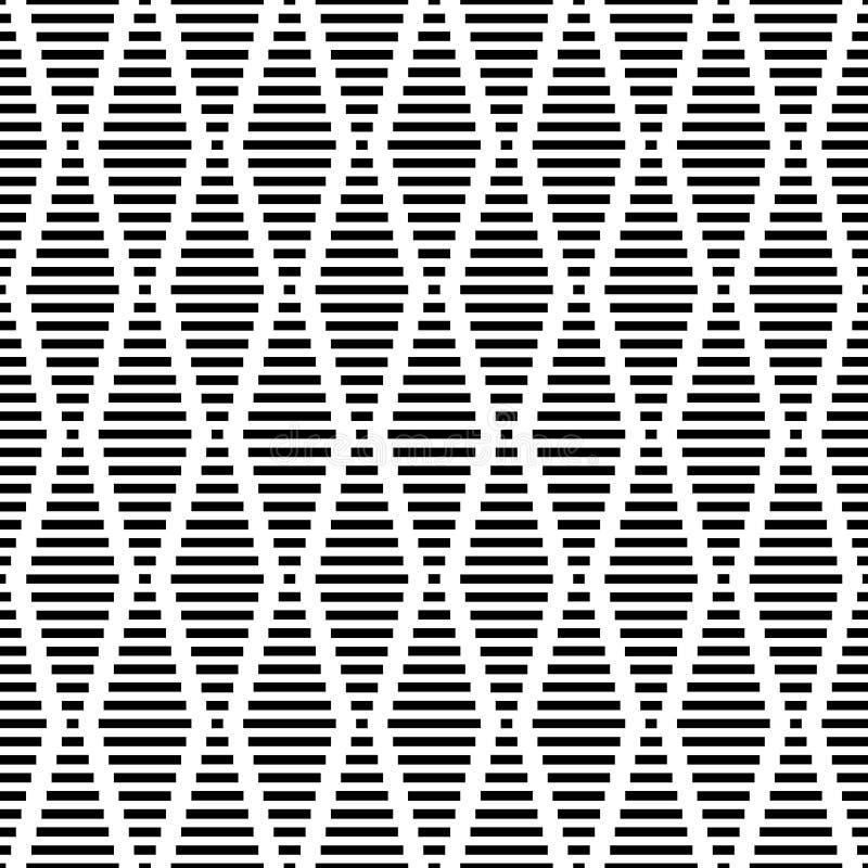 Дизайн предпосылки безшовного геометрического вектора картины простой при формы диаманта сделанные mono прямоугольников и квадрат иллюстрация штока
