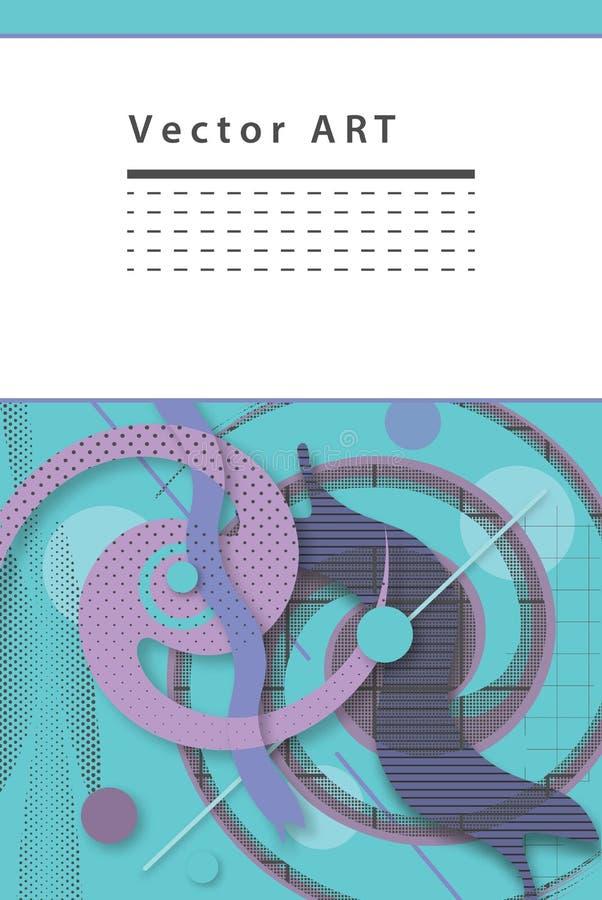 Дизайн предпосылки вектора абстрактный современный стоковая фотография rf