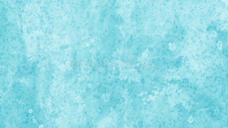 Дизайн предпосылки в белом и голубом с blotchy мытьем акварели и дизайн кровотечения края от краски распыливают потеки и падения  стоковые фотографии rf