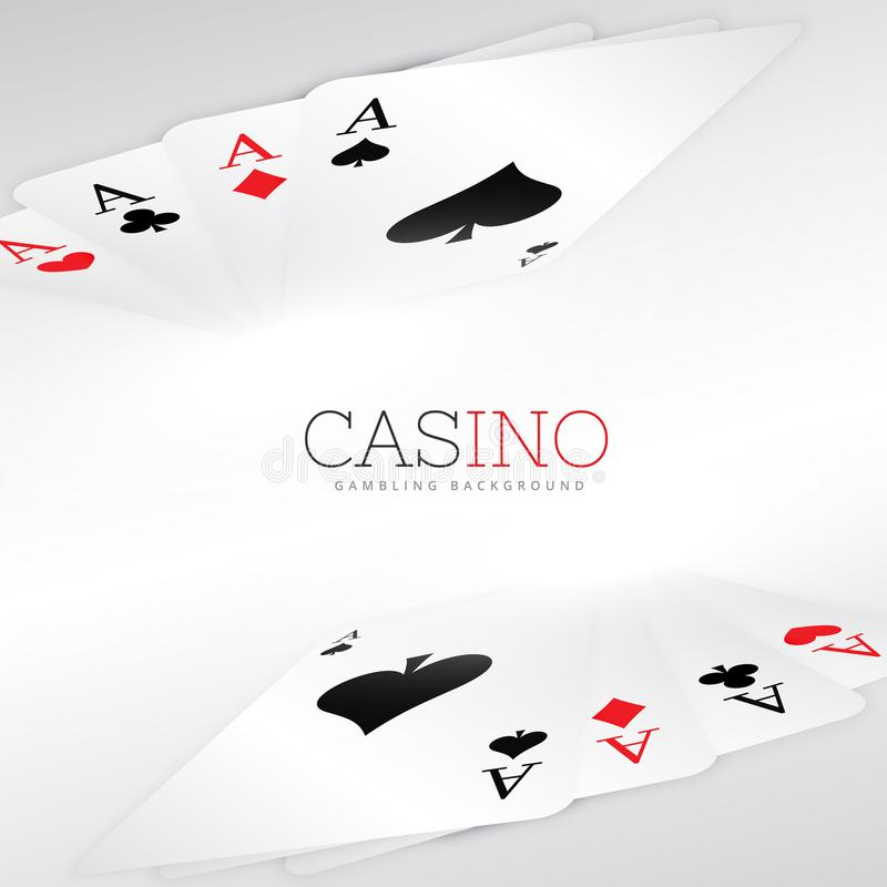 Дизайн предпосылки играя карточек иллюстрация штока