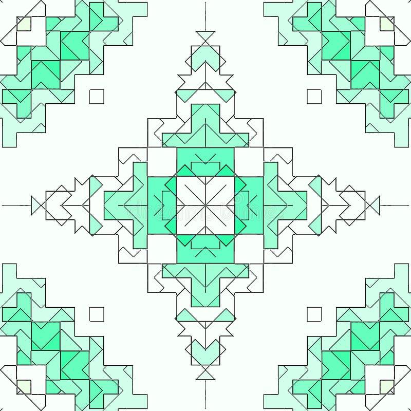 Дизайн предпосылки конспекта картины контура, геометрический иллюстрация вектора