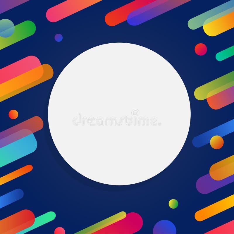 Дизайн предпосылки конспекта летчика Futurism с космосом экземпляра Красочная яркая и жизнерадостная картина иллюстрации вектора  иллюстрация вектора