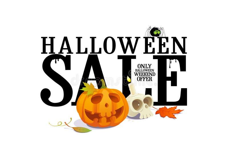 Дизайн предложения продажи хеллоуина. иллюстрация вектора