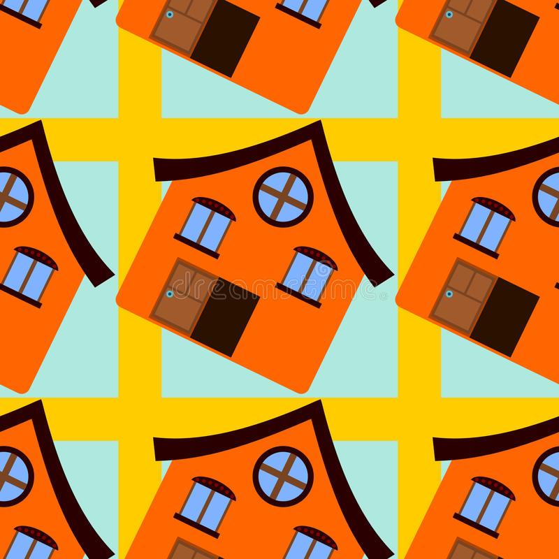 Download Дизайн предпосылки оранжевого дома безшовный Иллюстрация штока - иллюстрации насчитывающей иллюстрация, украшение: 40592043
