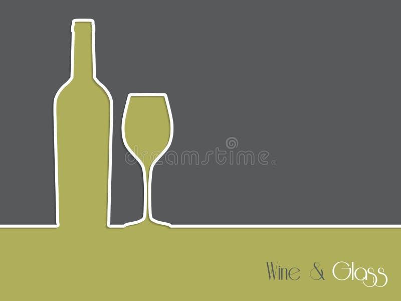 Дизайн предпосылки рекламы вина с бутылкой и стеклом иллюстрация штока