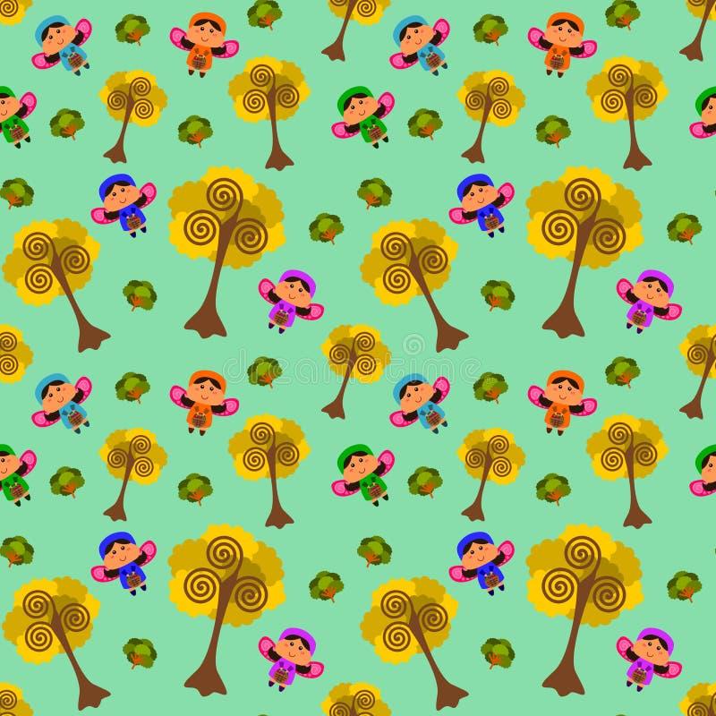Download Дизайн предпосылки фей шаржа безшовный Иллюстрация штока - иллюстрации насчитывающей конструкция, картина: 40592077