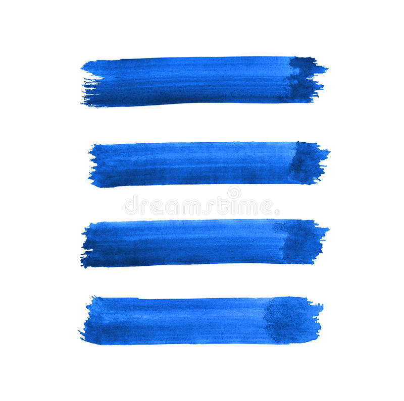 Дизайн предпосылки ходов щетки акварели голубой иллюстрация вектора