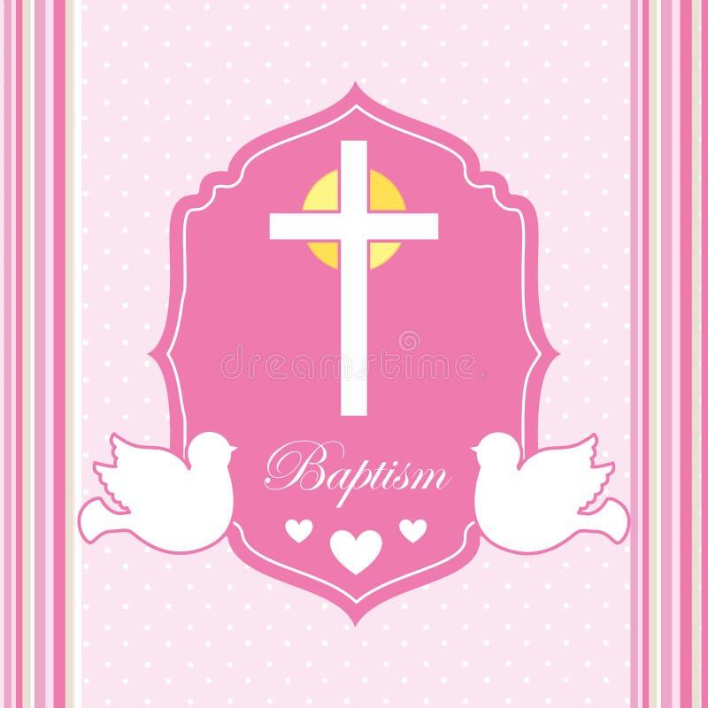 Дизайн приглашения крещения иллюстрация штока