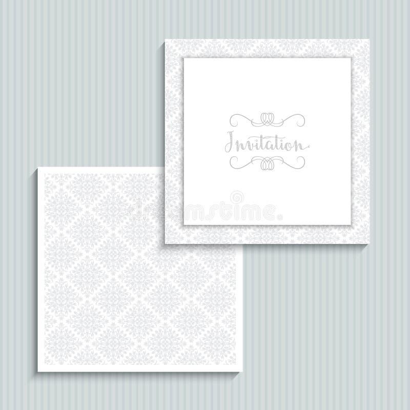 Дизайн приглашения свадьбы иллюстрация вектора