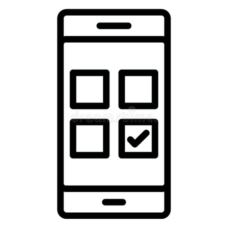Дизайн приложения изолировал значок вектора который может легко доработать иллюстрация штока