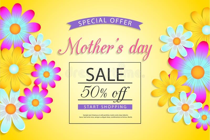 Дизайн продажи Дня матери иллюстрация штока
