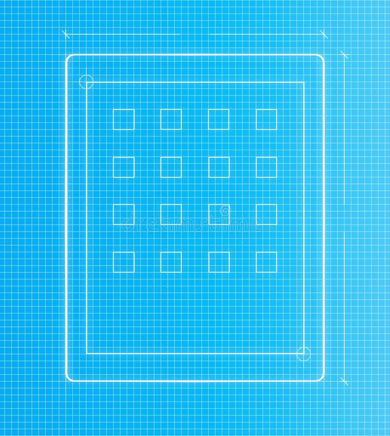 Дизайн проекта таблетки плана бесплатная иллюстрация