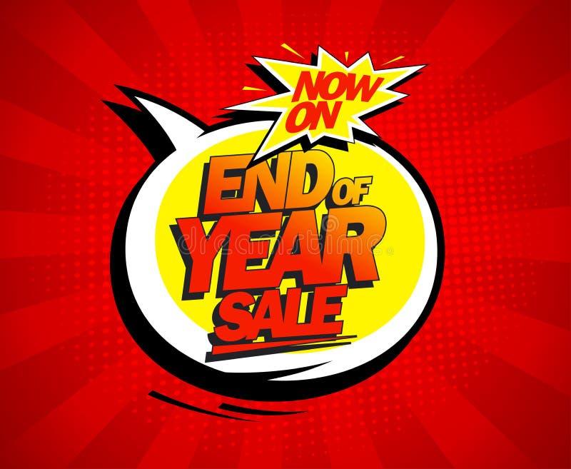 Дизайн продажи конца года самый большой иллюстрация вектора
