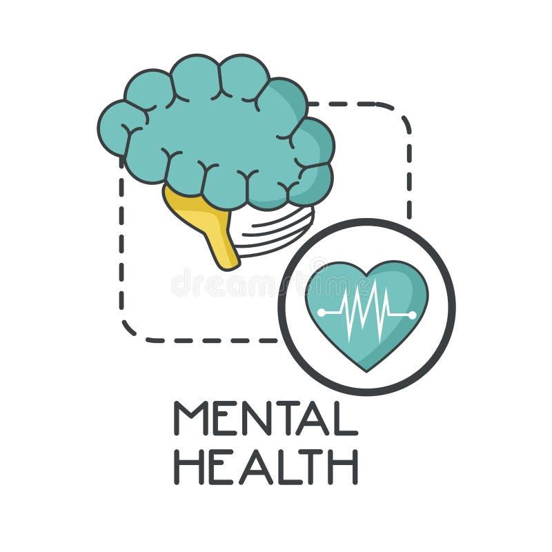 Дизайн психических здоровий иллюстрация штока