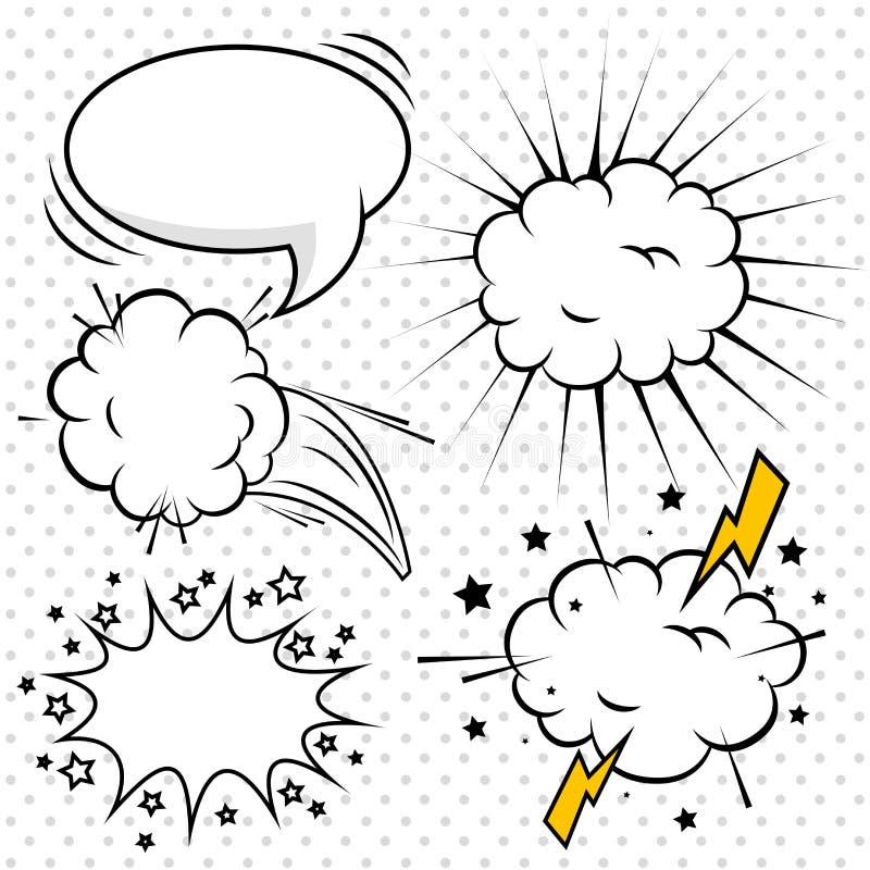 Дизайн пузырей искусства шипучки шуточный бесплатная иллюстрация